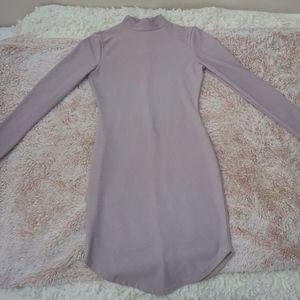 Missguided Mauve Long Sleeve Mini Dress